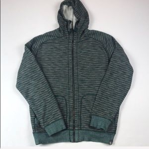 The North Face Green & Orange Hoodie w/Zipper - L